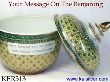 Benjarong Ceramics Customized With Your Message