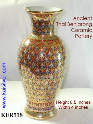 Hand Painted Ceramic Vases